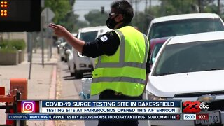 COVID-19 surge testing site opens at Kern County fairgrounds