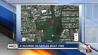 4 people injured in Naples boat fire