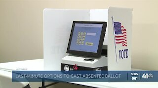 Last-minute options to cast absentee ballots