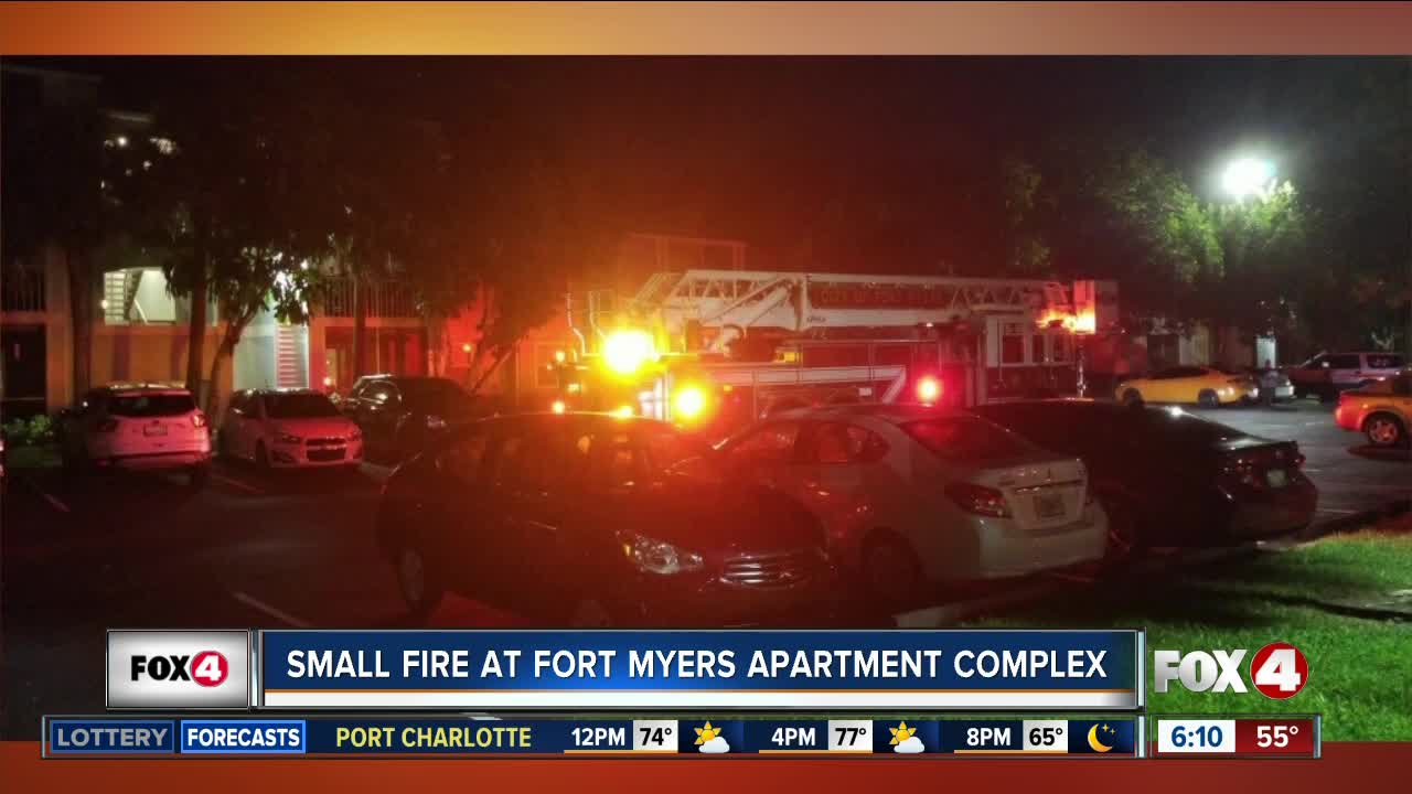 Small fire at a Fort Myers apartment complex Sunday night