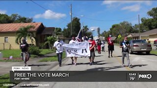 Free the Vote March to the polls