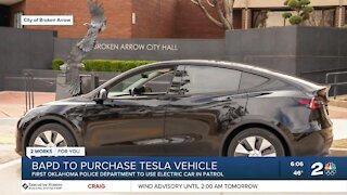 Broken Arrow Police Department to purchase Tesla vehicle
