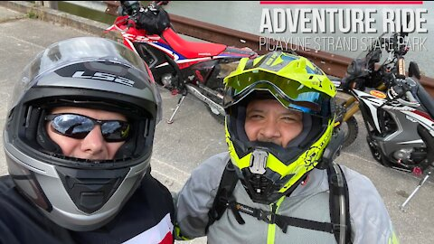 First time pulling the new ACE foldable single motorcycle trailer BONUS Adventure Park Ride