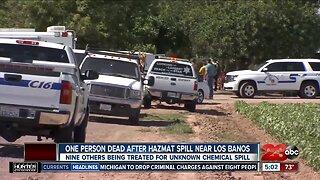 Hazmat spill near Los Banos leaves on person dead