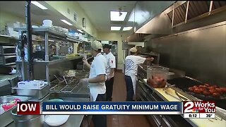 Bill would raise gratuity minimum wage