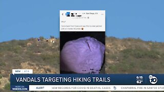 Increase in graffiti reports at San Diego parks and trails
