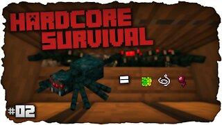Cave Spider XP Farm ! | Hardcore Survival | Minecraft - #2