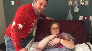 Elle rencontre son petit-fils après 7 semaines d'hospitalisation