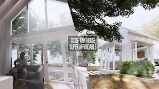 323sf Tiny Loft White House – Super affordable and beautiful tiny house design project
