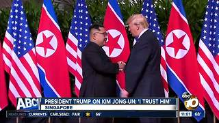 President Trump meets with Kim Jong-Un