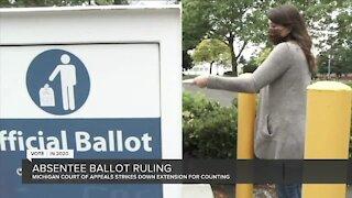 Michigan court stops 2-week absentee ballot extension