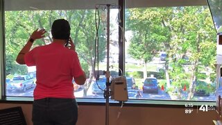 Mother rings in end of chemo treatments with friends, family