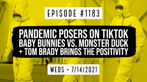#1183 Pandemic Posers On TikTok, Baby Bunnies Vs Monster Duck, & Tom Brady Brings The Positivity