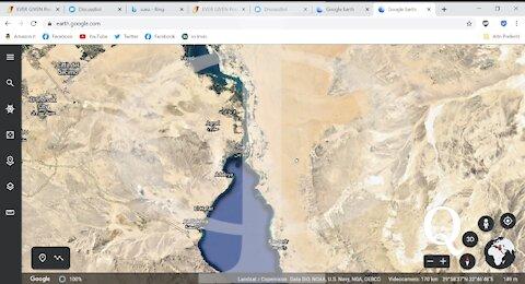Google Earth oscura la zona dell'incagliamento - A voi ogni considerazione...