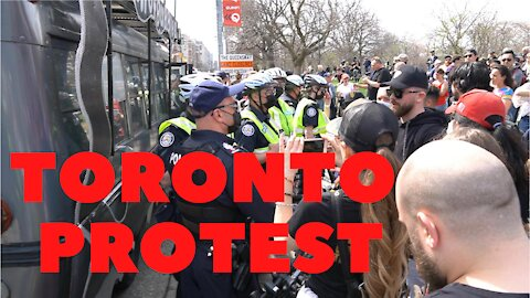 Toronto sees larger protests against lockdowns as temperatures rise. April 10, 2021