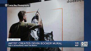 Valley artist creates Devin Booker mural