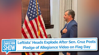 Leftists' Heads Explode After Sen. Cruz Posts Pledge of Allegiance Video on Flag Day