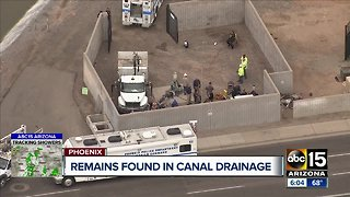 Remains found in canal drainage