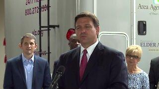 Florida Gov. Ron DeSantis speaks at Jacksonville assisted living center
