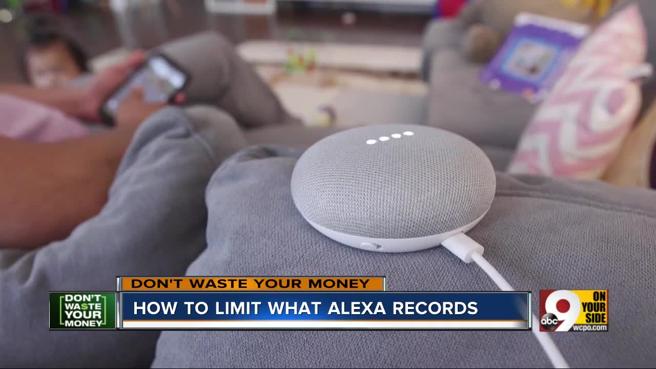 How to limit what Alexa records