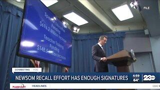 Newsom recall effort has enough signatures
