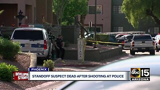 Standoff suspect dead after shooting at police