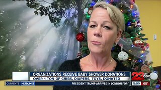 Organizations receive donations from 23ABC Baby Shower