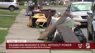 Dearborn residents still without power after floods