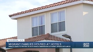 Migrant families housed at Valley hotels