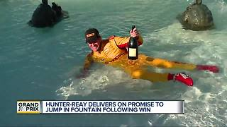 Hunter-Reay talks fountain celebration at Detroit Grand Prix
