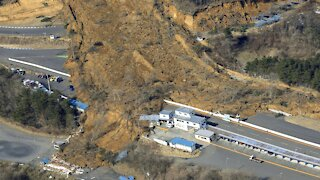 7.3 Magnitude Earthquake In Japan Causes Landslide