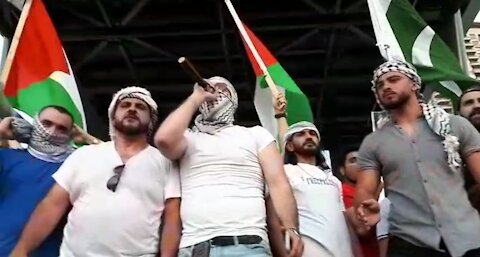 """Poem recited at Mississauga rally """"I'll carry out [armed] operations against Zionists"""""""
