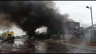 SOUTH AFRICA - Durban - Factory Fire (XqZ)