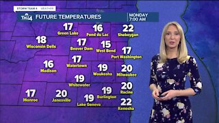 A mostly dry and cloudy start to Monday