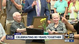 Valley couple celebrates 80th anniversary