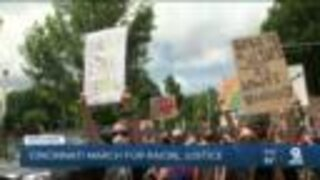 Hundreds protest against racial injustice Downtown