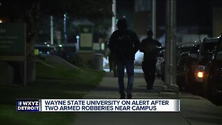 Wayne State University on alert after 2 armed robberies near campus