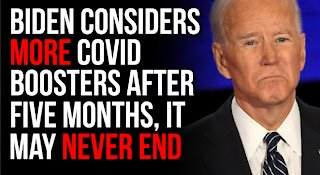 Biden Discusses 5-Month Booster Shots For Covid-19 Vaccine