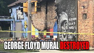 George Floyd Mural DESTROYED by Lightning Hit?