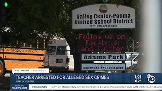 Teacher arrested for alleged sex crimes