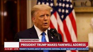 President Trump Makes Farewell address