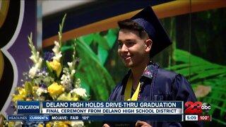 Delano High School holds drive-thru graduation