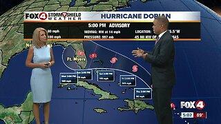 Hurricane Dorian continues to strengthen
