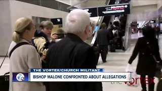 Bishop Malone confronted about allegations