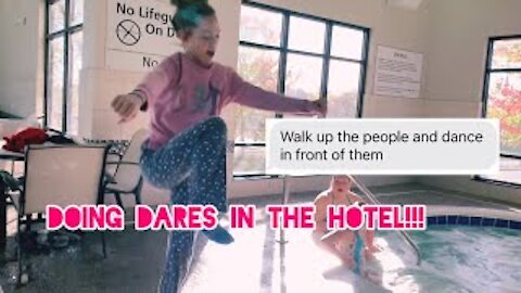 Doing Dares in the Hotel!!! Extreme dares & vlog!! Gabby's Gallery