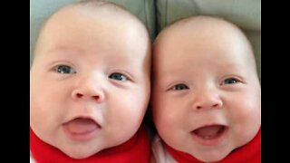 Twins' laughter can bring a smile to anyone