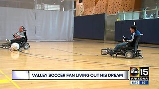 Valley soccer fan living out his dream