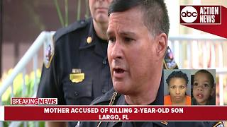 Mother of 2-year-old charged with murder | press conference