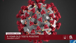 6-year-old tests positive for coronavirus