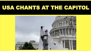 Crowds Chant USA As Protesters Scale The Capitol